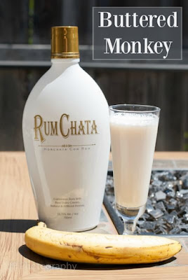 Rum Chata, vanilla vodka, banana liqueur, butterscotch schnapps, buttered monkey, buttered monkey photo, buttered monkey picture, buttered monkey image, buttered monkey recipe