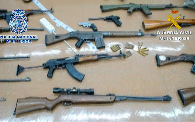 pate de ls armas incautadas durante la operacion