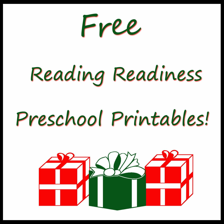 Free Reading Readiness Preschool Printables