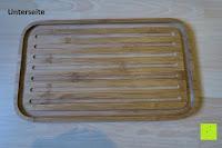 Unterseite: Brotkasten aus Bambusfaser mit Deckel aus Bambus | 42 x 23 x 12 cm | Bewahren Sie Ihr Brot luftdicht und hygienisch auf