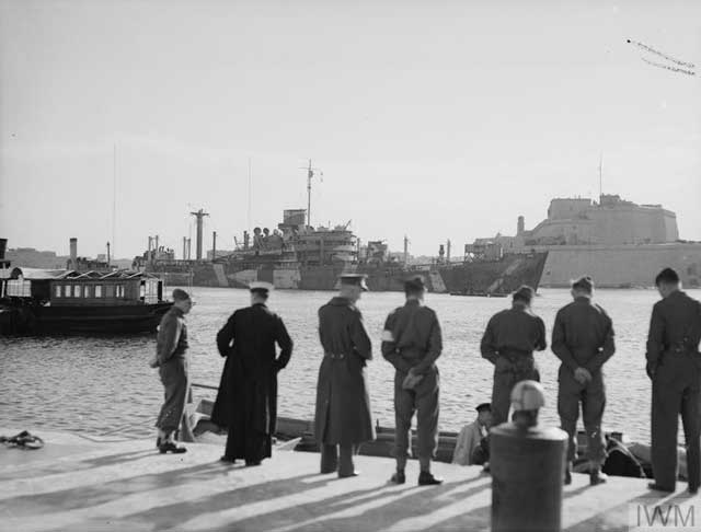 HMS Breconshire at Malta, 27 January 1942 worldwartwo.filminspector.com