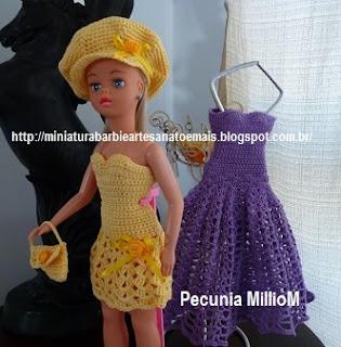 Roupa de Crochê Para a Boneca Susi Por Pecunia MillioM