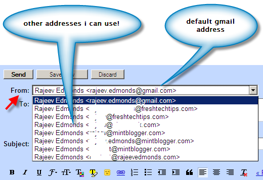 Multiple email addresses in gmail