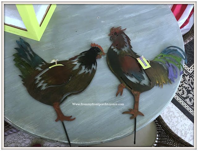 Hobby Lobby-Clearance-Garden Decor-Roosters-From My Front Porch To Yours