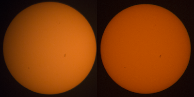 compare prime vs 300mm sun photo
