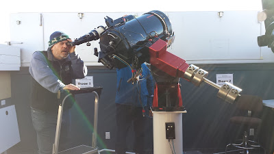 yours truly viewing with the Coronado H-alpha