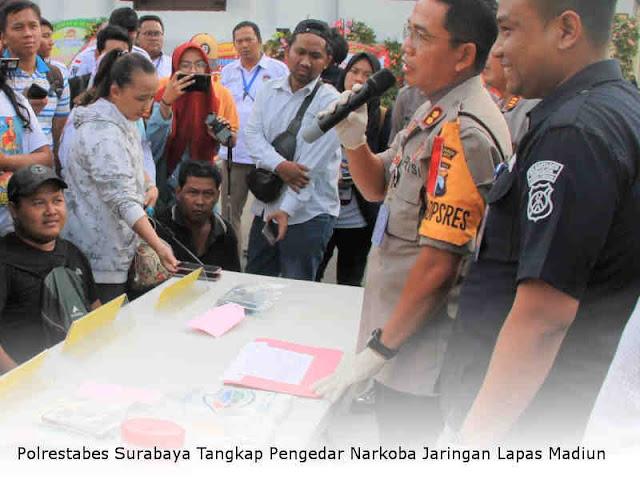 Polrestabes Surabaya Tangkap Pengedar Narkoba Jaringan Lapas Madiun
