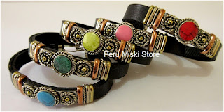 Leather Bracelets with Stones