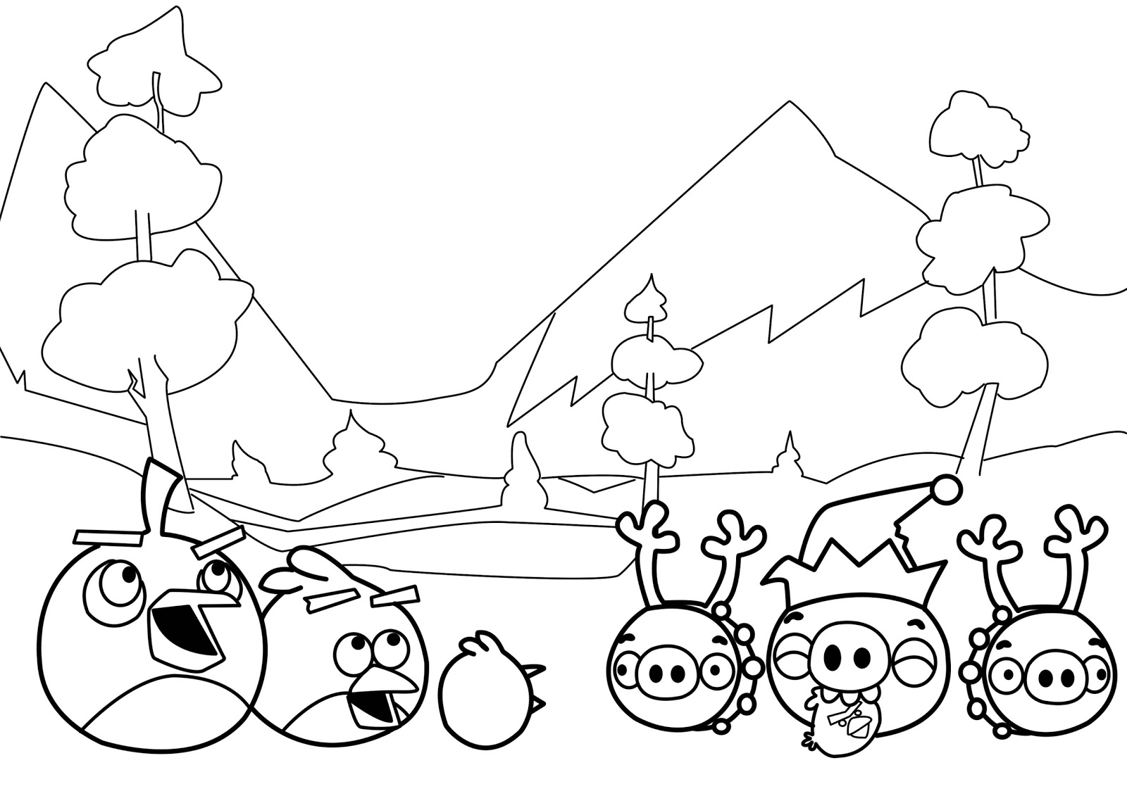 Free angry birds coloring pages for kids ~ New Angry Birds Coloring Pages | All Free Coloring Page ...