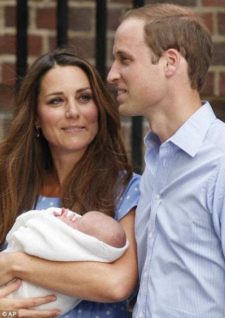 Kate and William with new baby