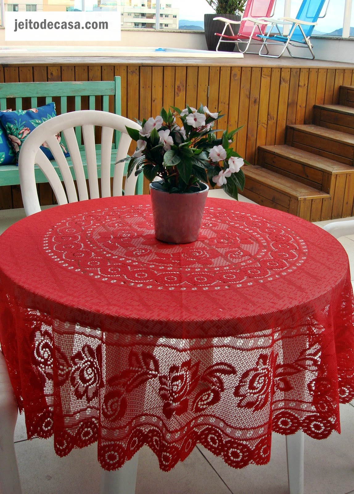 Toalhas de mesa de fibra de coco praticidade na