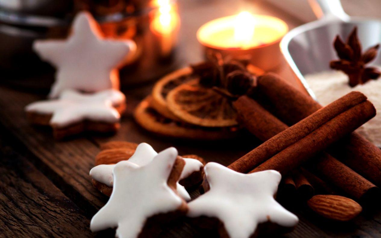 Holiday New Year Christmas Cookies Stars Hd Wallpaper Barong