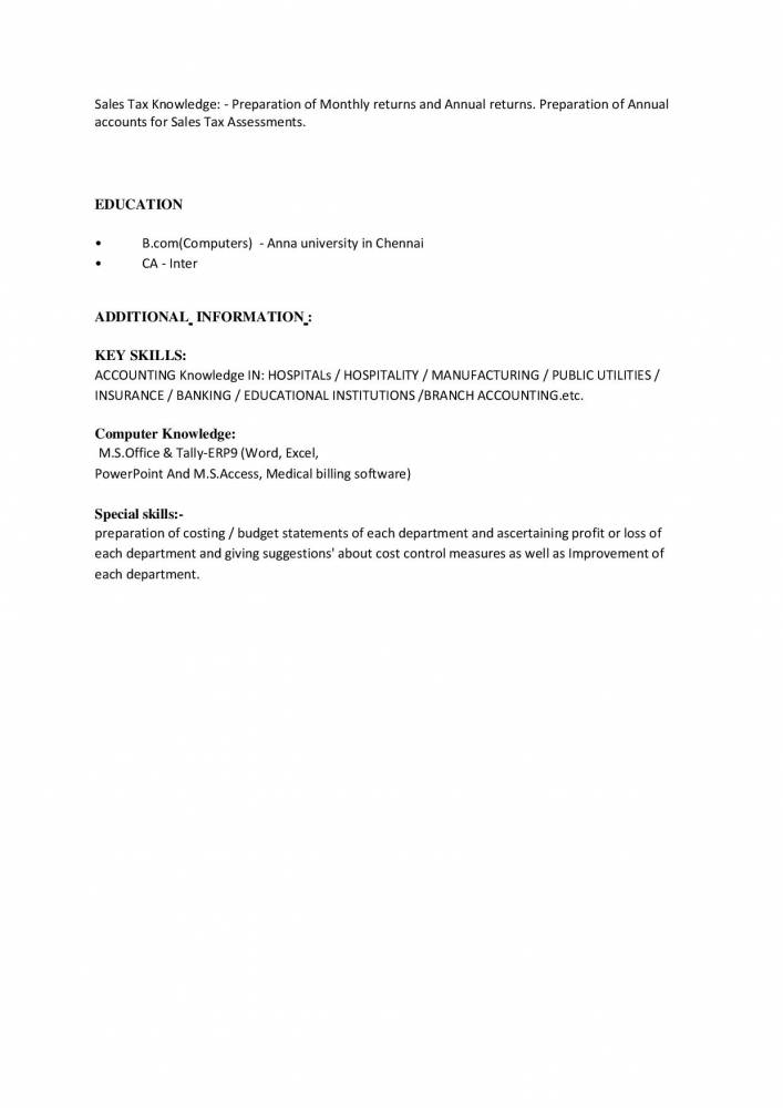 Best Resume Format For Accounts & Finance Manager - Example/CV ...