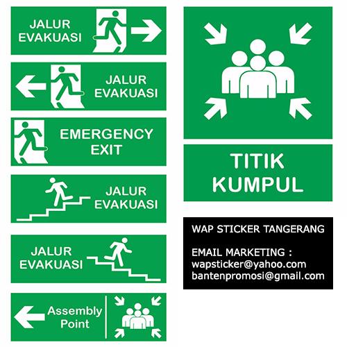 Jual Stiker Rambu K3 di Tangerang