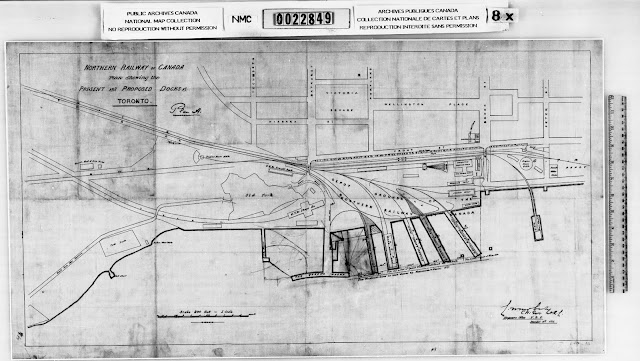 Map: 1872 Moberly: Plan showing the present and proposed docks at Toronto
