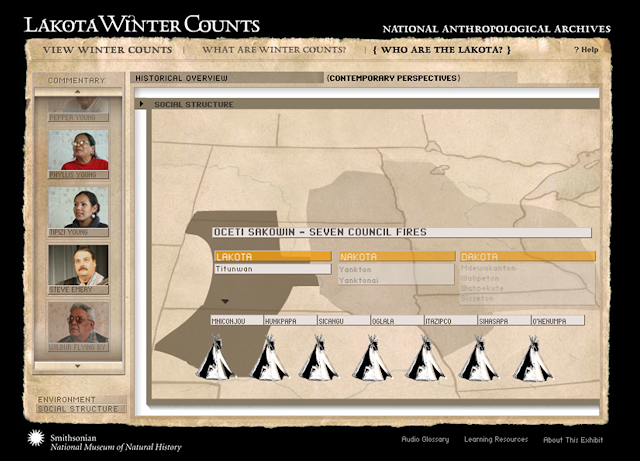 Lakota Winter Counts Online Exhibition.