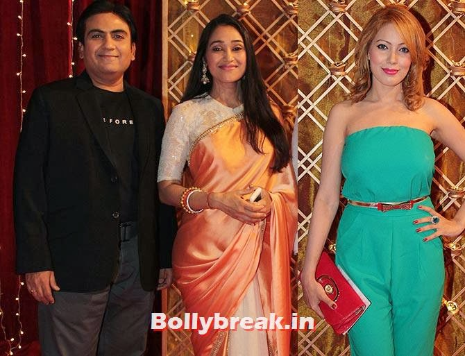 Dilip Joshi, Disha Vakani and Mummun Dutta on Indian Tele Awards 2013 Red carpet, Indian Tele Awards 2013 red Carpet Pictures - ITA - Lauren Gottlieb, Mouni Roy, Ratan Rajput