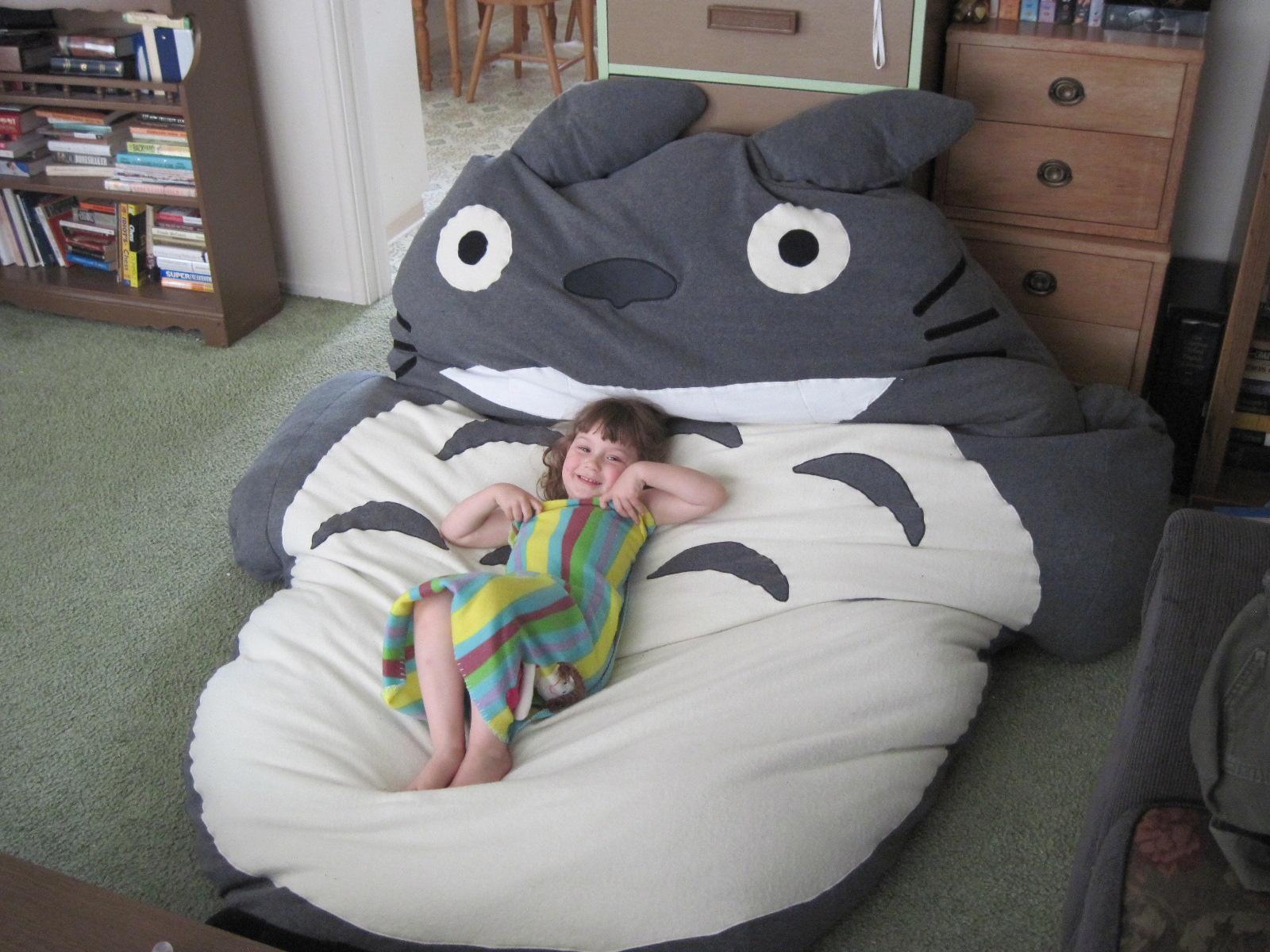 Anime Bean Bag Chair Swivel Gumtree Glasgow Chaos To Art Totoro