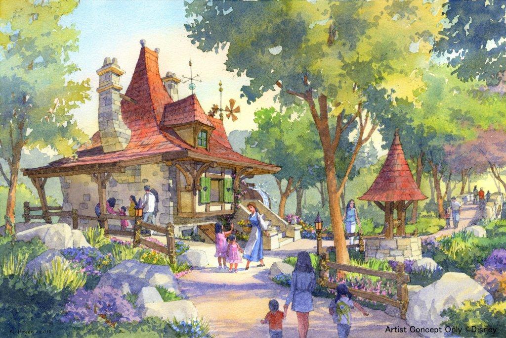 Disneyland Court Of Angels Concept Art Watercolor