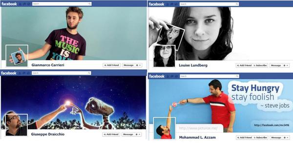 دمج صورة الغلاف مع الصورة الشخصية في الفيسبوك