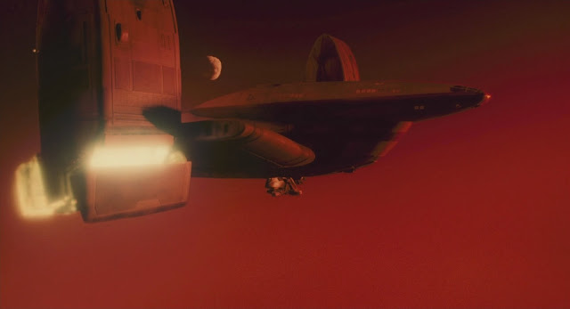 Shuttle landing on Mars - Total Recall 1990 movie image