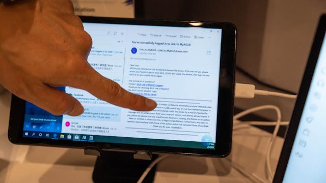 手機平板的觸控功能在延伸螢幕狀態下也可用