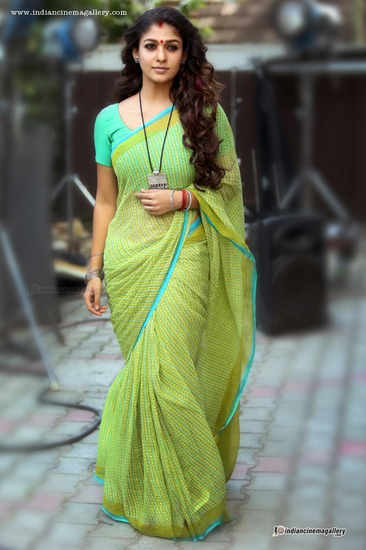 Nayanthara latest hot photos in saree from Puthiya Niyamam ...