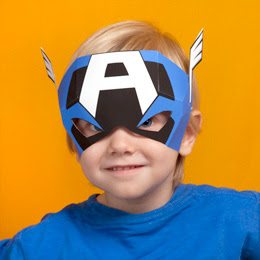 Free Printable Captain America mask