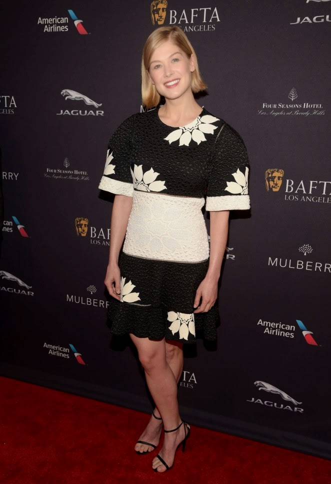 Rosamund Pike shows off toned waist at the BAFTA LA Tea Party in Beverly Hills