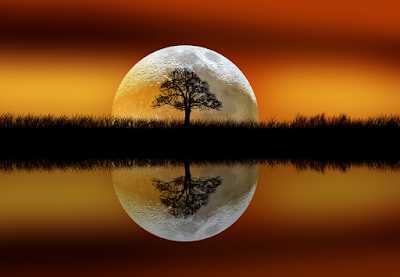 Resultado de imagen de amanecer con luna llena