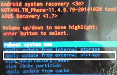 cara flash asus zenfone 5 t00j t00f Tanpa PC (via sd card)