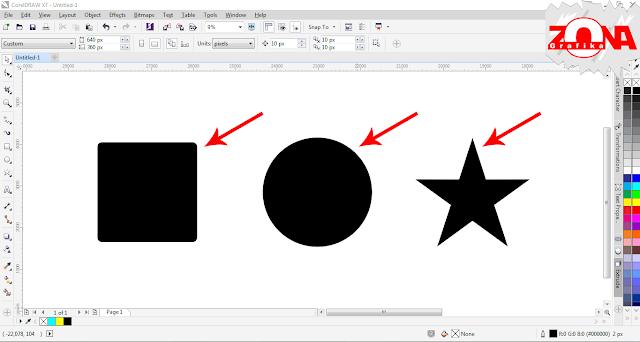 Cara Membuat Gambar JPG Menjadi Bentuk yang Kita Inginkan (PowerClip Inside) dengan Corel Draw X7