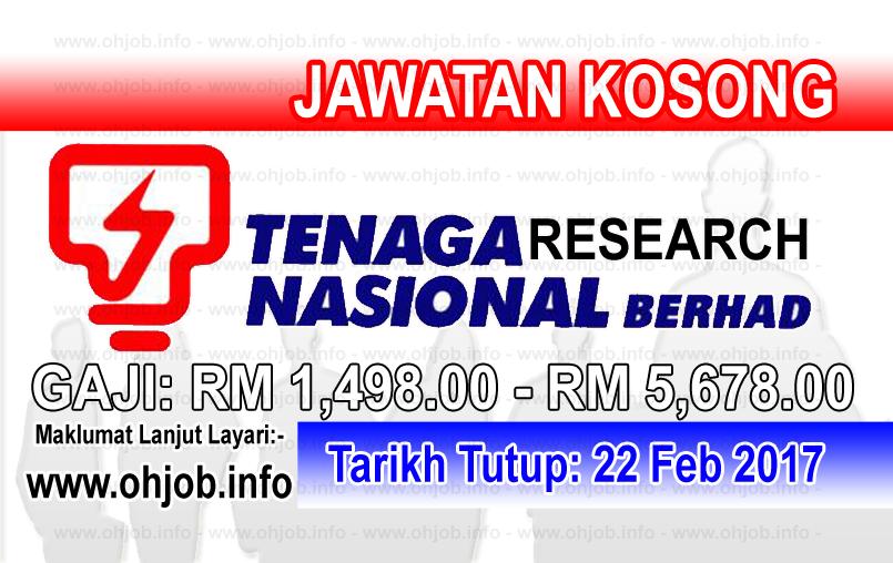 Jawatan Kerja Kosong TNB Research logo www.ohjob.info februari 2017