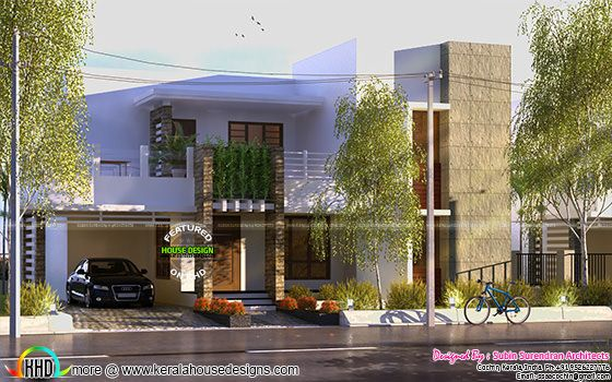 2474 sq-ft modern style green home design