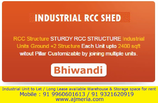 Industrial RCC Shed - Factory Units Ground +2 Structure 2400 sq ft without pillar customizable by joining multiple units