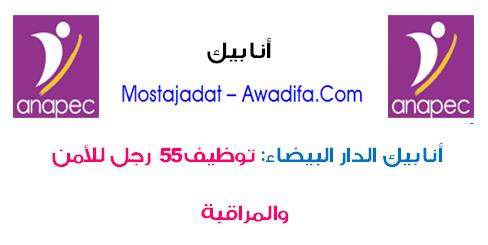 أنابيك - الدار البيضاء: توظيف 55 رجل للأمن والمراقبة