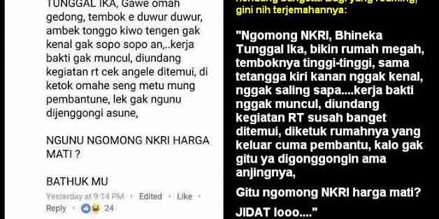 "Arek Suroboyo : Teriak ""Bhineka Tunggal Ika""  bikin tembok tinggi ,tetangga kiri kanan nggak kenal, nggak saling sapa"