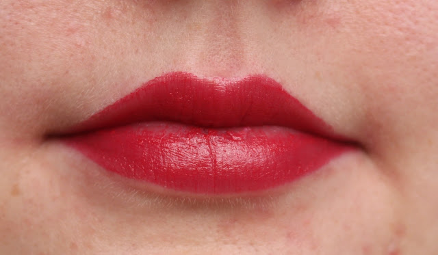 Photograph of Red Carpet rose gold lipstick on the lips