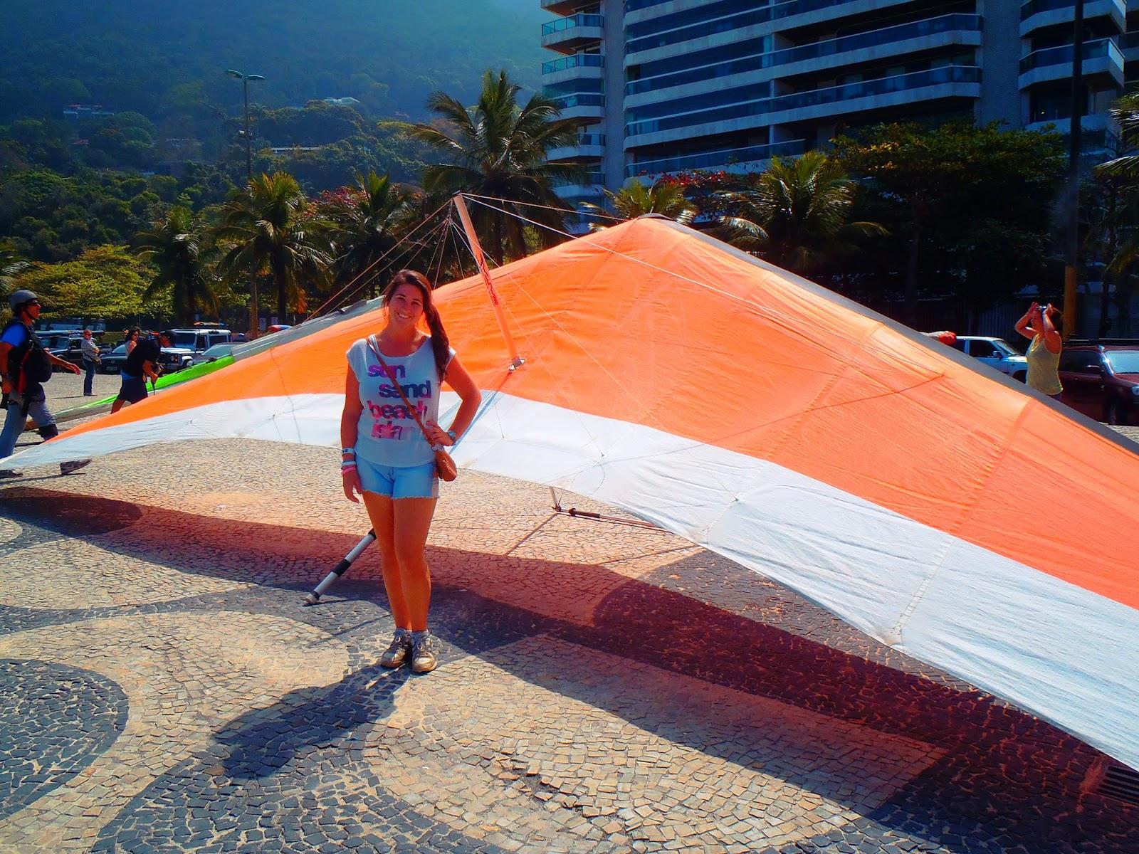 Simone with Hang Glider