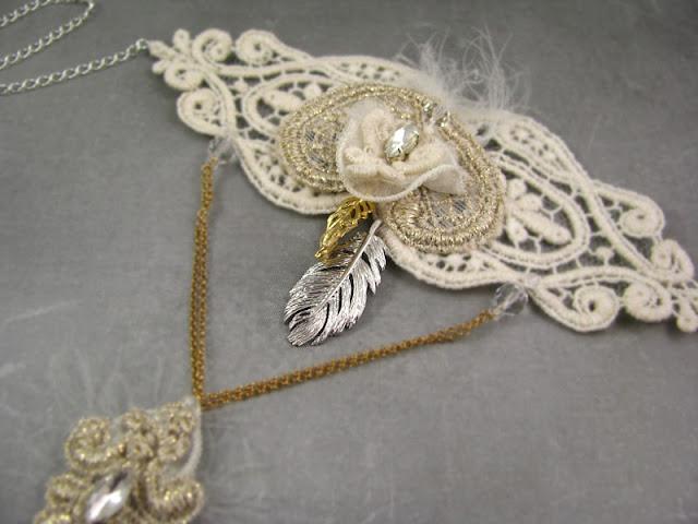 Romantyczna bransoletka ślubna boho.