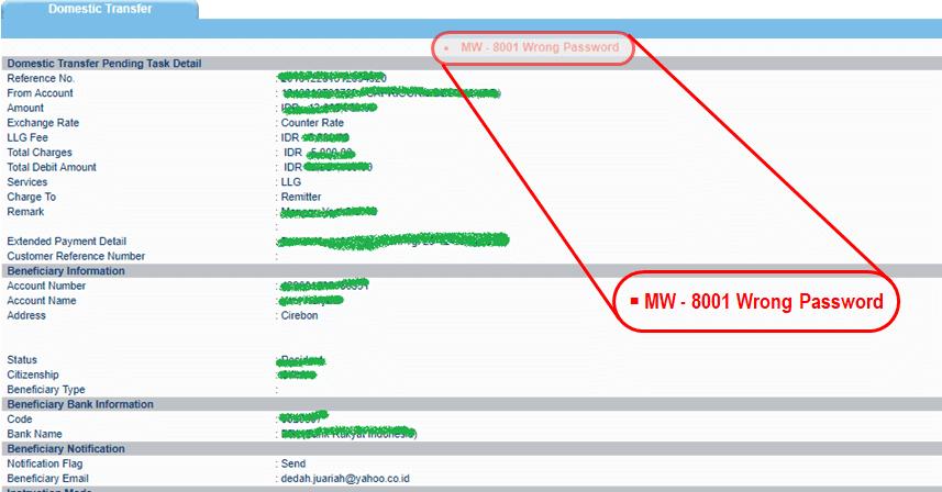 Cara Mengatasi Notifikasi Mw 8001 Wrong Password Mcm Bank Mandiri