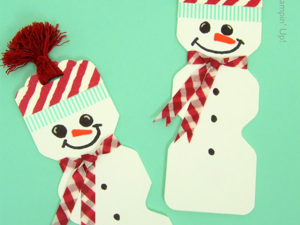 Snowman Magnetic Bookmark - Christmas Eve Box & Stocking Fillers