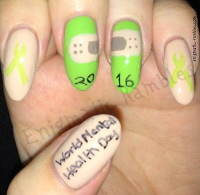 World Mental-Health-Day-2016-Nails-Nail-Art-Psychological-First-Aid-peoplenotplasters