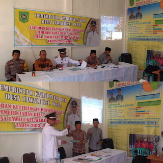 BPD Terima Laporan LKPPDes Kepala Desa Tawali