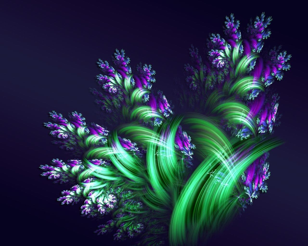 Funny Purple Flowers Hd Wallpaper: HQ Wallpapers Arena: Purple Green Fractal Flower