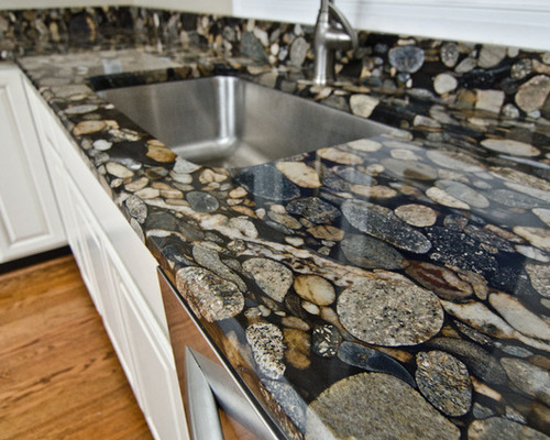black marinace granite kitchen