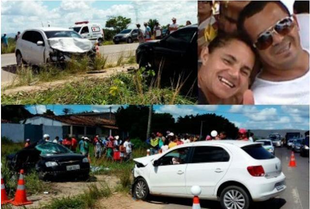 Tragédia: Gerente do G.Barbosa de Paulo Afonso, esposa e o filho de 5 anos morrem em colisão na BR-235
