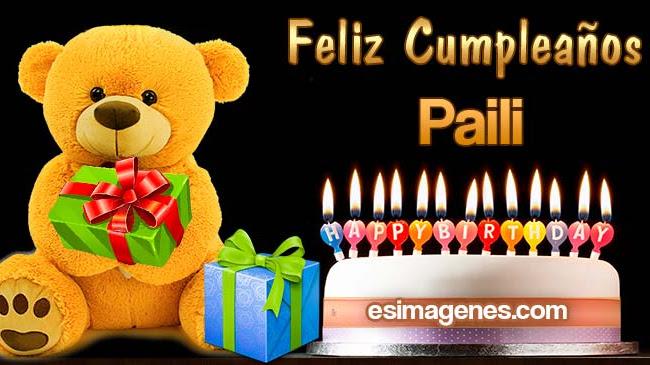 Feliz cumpleaños Paili