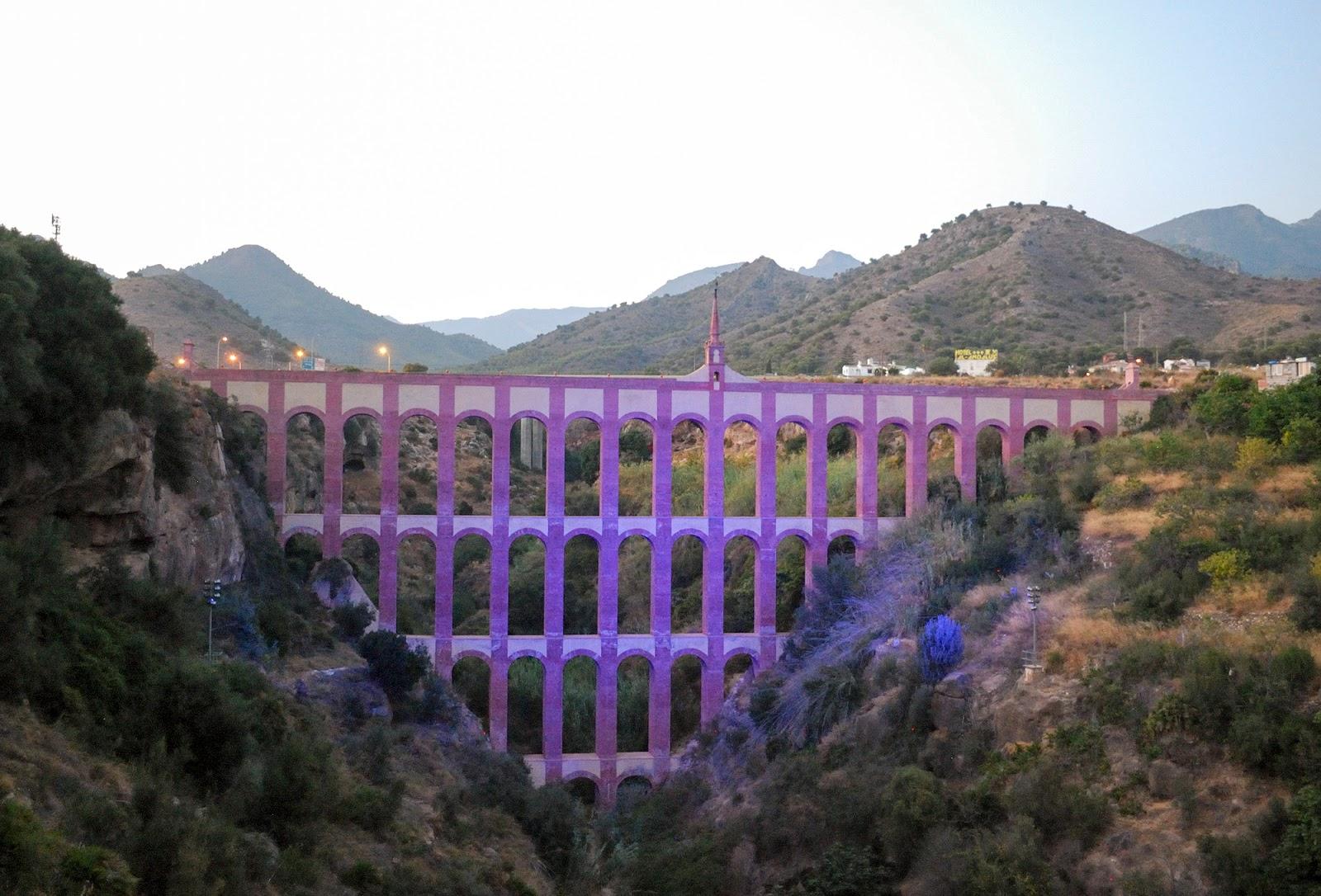 eagle aqueduct acueducto aguila nerja malaga spain