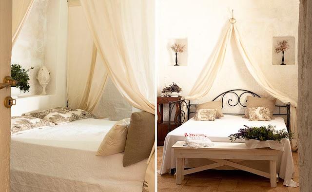 masseria con encanto en la puglia dormitorio decorado en blanco chicanddeco